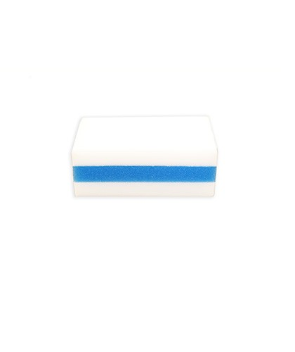 Mighty Sponge Pad Stain Remover Eraser interior Detail, Blue & White, Pack of 10