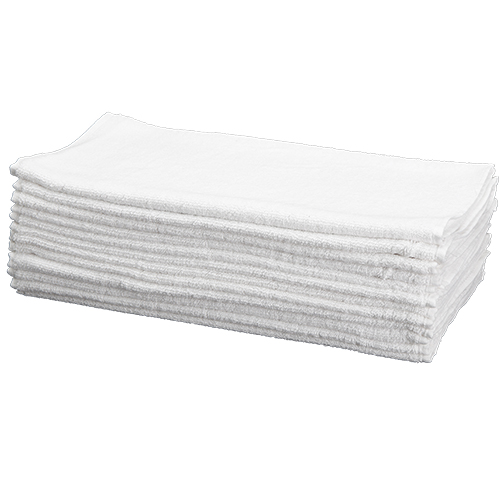 Car Wash Cotton China Terry Cloth Cleaning Drying Towels, White, Pack of 12