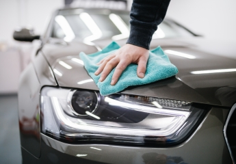 Cleaning Vehicles Using Microfiber Towels