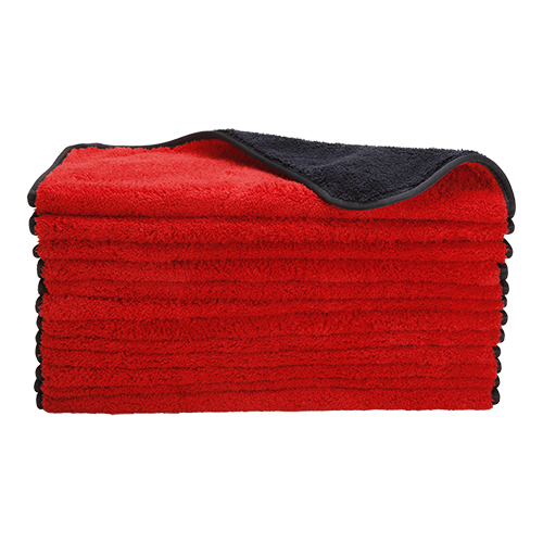 Microfiber Dual-Faced Heavy Detailing Towel Deluxe Buffing with Silk Edges, 410 GSM/Side, 16