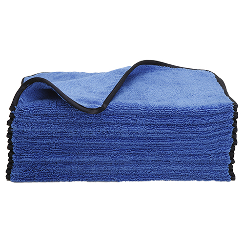 Microfiber Premium Polishing Towel Dense Weave with High & Low Pile Super Absorbent For Buffing, 500 GSM, 24