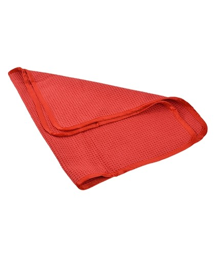 Microfiber Waffle Weave Drying Towel with Silk Edges, 380 GSM, 24