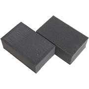 Magic Shine Clay Foam Block, Medium Grade, Black,  Pack of 6