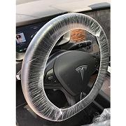 Disposable PE Steering Wheel, Seat and Gear Cover, 0.01MM Thickness, 500 Sets