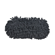 Microfiber Chenille Swirl-Free Car Wash Pad, Black, Pack of 6