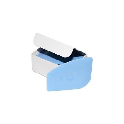 Multi Purpose Plastic Razor Scraper Sticker Remover, Blue, Pack of 72