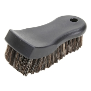 "6"" Natural Horse Hair Leather Upholstery Brush,  Pack of 12"
