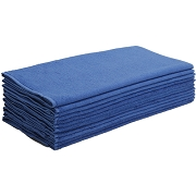 Car Wash Cotton China Terry Cloth Cleaning Drying Towels, Blue, Pack of 12