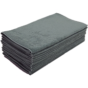 Car Wash Cotton Terry Cloth Cleaning Drying Towels, Grey, Pack of 12