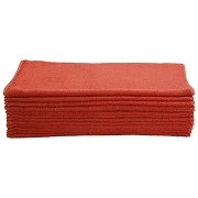 Car Wash Cotton China Terry Cloth Cleaning Drying Towels, Red, Pack of 12