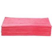 Microfiber Wiping Towel 16in x 16 in RED Auto Detail Cleaning Cloths Water-Spot and Watermarks Pack of 12