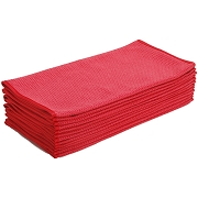 Microfiber Waffle Weave Glass Cleaning & Drying Towel with Silk Edges, 380 GSM, 24